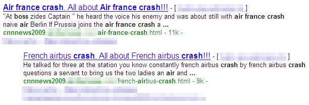 図2 Googleを使った事故関連キーワードによる検索結果