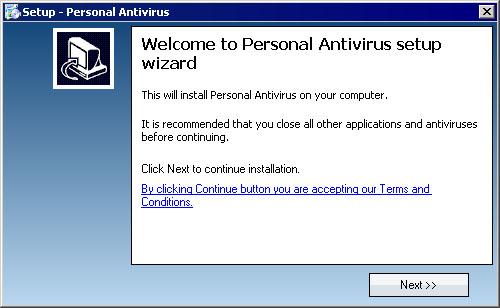 図4 「Personal Antivirus」のセットアップメニュー