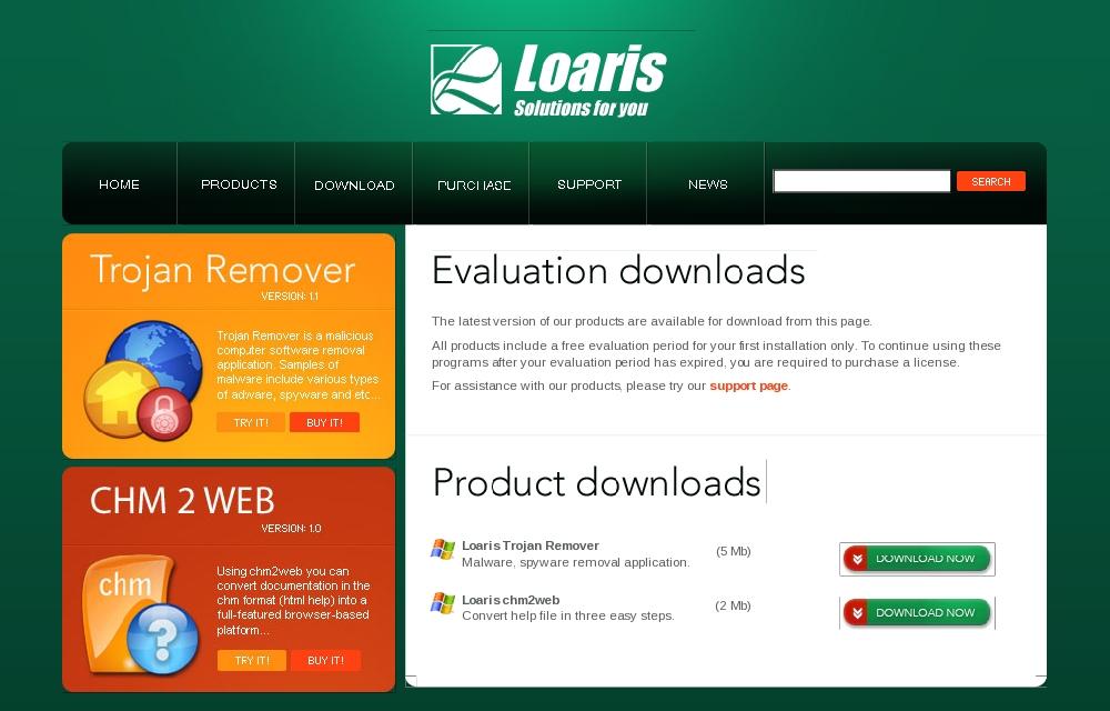 図1 「Loaris Trojan Remover」配布サイト