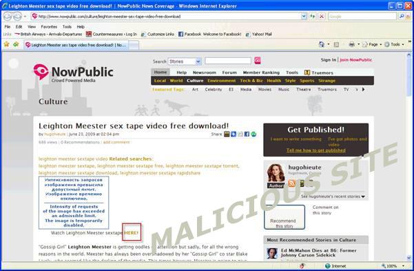 図2 Leightonのアダルトビデオがダウンロードされるはずの不正Webサイト