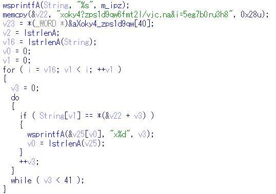 図2 暗号1-Cコード