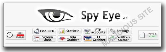 図1:「SpyEye」のメインインターフェース