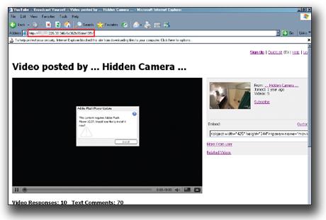 図3:動画再生のためのプログラムダウンロードを促す画面