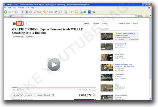 図2:Facebookから誘導される偽YouTubeのページ