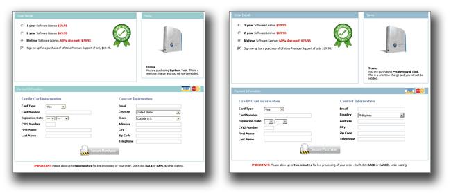 図3:「System Tool」(左)と「MS Removal Tool」の購入画面