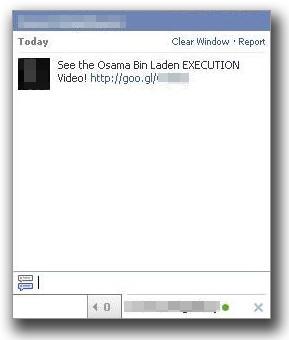 図3:Facebookのチャットに送られてきた不正なリンクを含むメッセージ