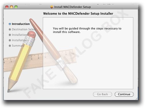 図1:「OSX_FAKEAV.A」と類似したインストーラ画面