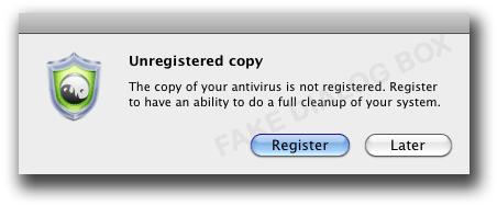 図3:偽セキュリティソフトの登録を促すメッセージ