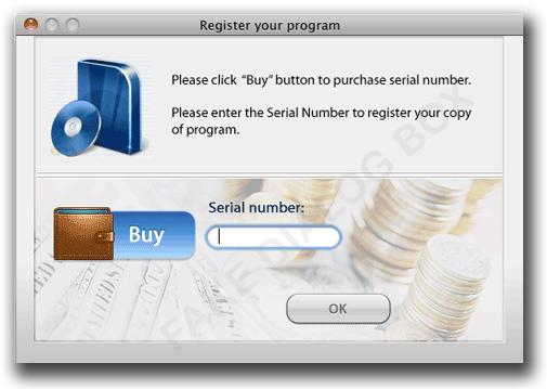 図4:シリアルナンバーの購入を促す画面