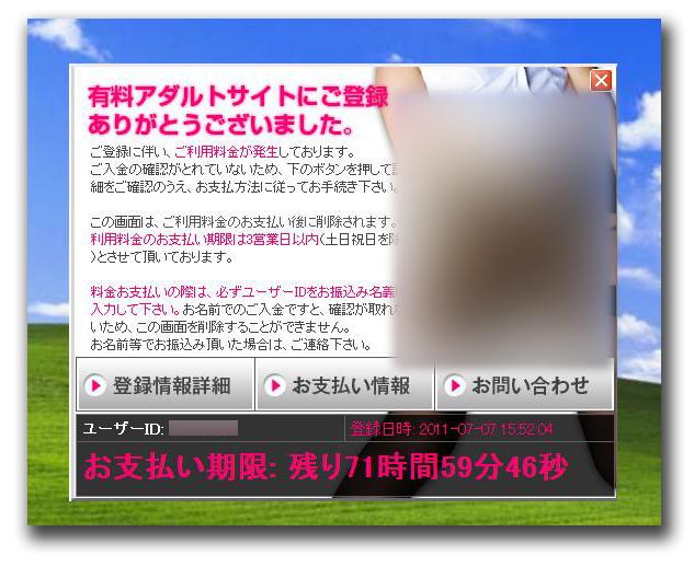 図1:デスクトップ上に貼り付けられる請求画面の例