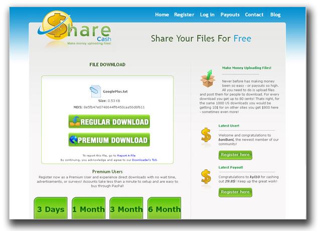 図3:招待状がダウンロードできると称するファイル共有サイト
