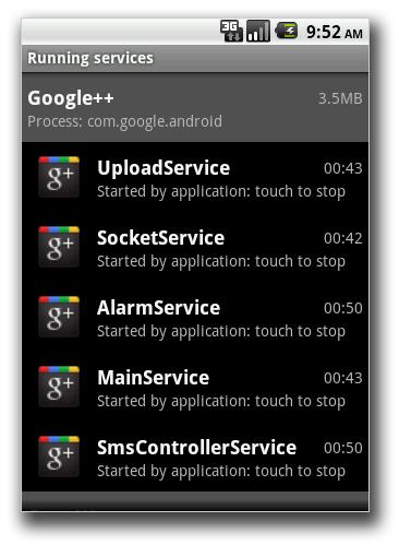 図2:「ANDROIDOS_NICKISPY.C」が利用するサービスの画面