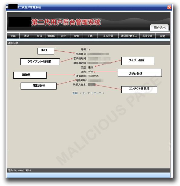図4:発信または受信した通話の通知
