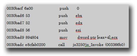 図7:新規作成された Array Lengthプロパティのための関数「Js3250!js_GetLenghProperty」