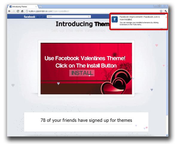 図5:「Facebook Improvement |Facebook.com」という拡張機能としてインストールされる