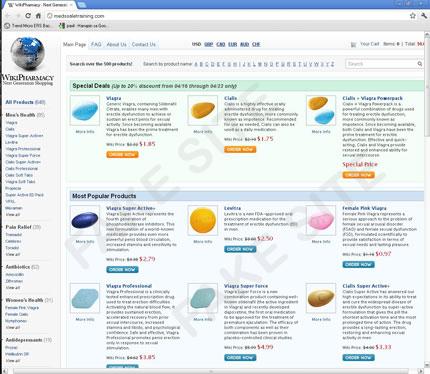図6:偽Webサイトである「Wiki Pharmacy」