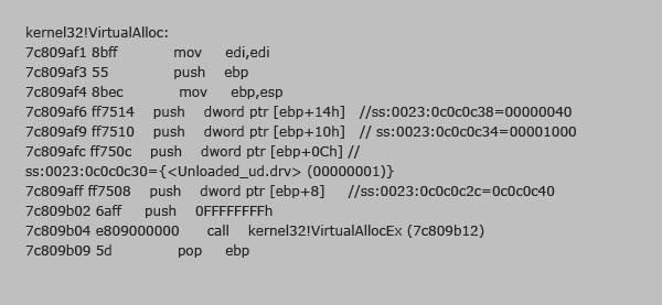 図13:「JS_DLOADER.QOA」の DEP 回避のための ROPコード