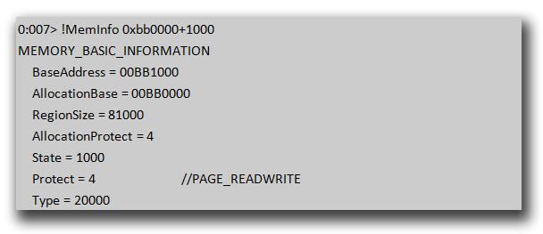 図11:「HTML_EXPLOYT.AE」の Heap Spray によって作成した領域