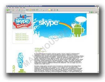 図1:Skypeの偽アプリを提供するサイト