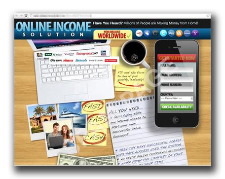 図5:「Online Income Solutions」のWebサイト