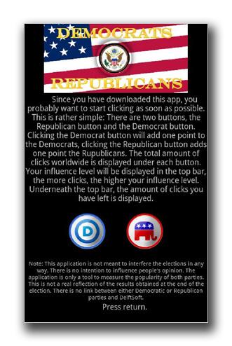 """図1:""""Obama vs Romney"""" で表示されるメッセージ"""