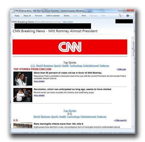CNNを装うスパムメール