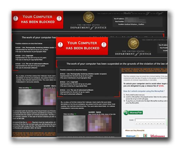 図1:ランサムウェアの警告画面