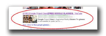 図1:「free Google glasses」で検索した結果