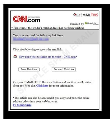 図1:「CNN」を装うスパムメールの例