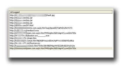 図3:不正 URL のログ