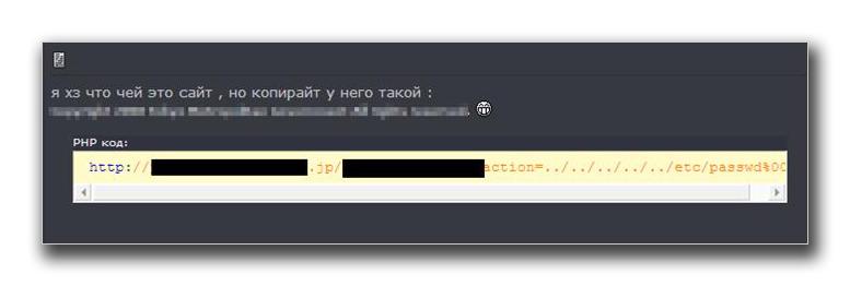 図3:jp ドメインのサイトに対して、ディレクトリトラバーサルの脆弱性を確認したことを報告する書き込みの例