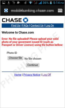 図2:Eメールアドレス入力を求めるフィッシングページ>