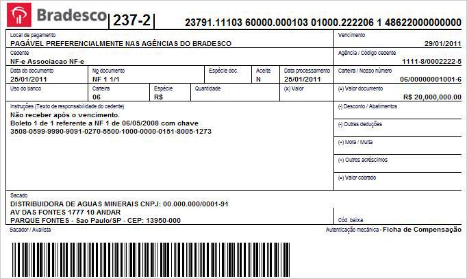 図2:ブラジルで金融取引に使われる「boleto」。強調表示された欄のコードは、通常サイバー犯罪者たちによって収集されたものである。