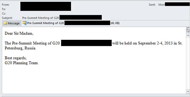 図1:メールの一例