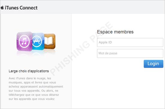 図3:Apple ID を狙うフィッシングサイトの一例