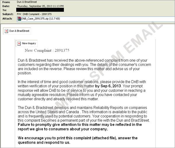 図2:不正なファイルが添付されたスパムメールの一例