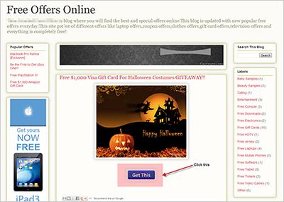 図2:詐欺サイトの一例