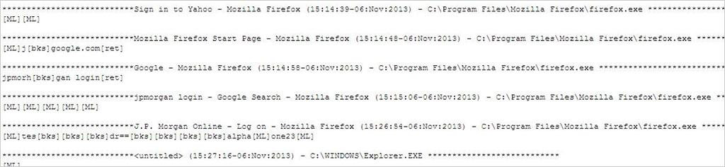 図2:キー入力操作情報を記録するコードの一部