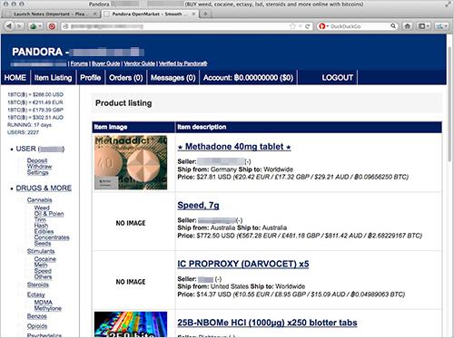 図5:Pandora の Webサイト