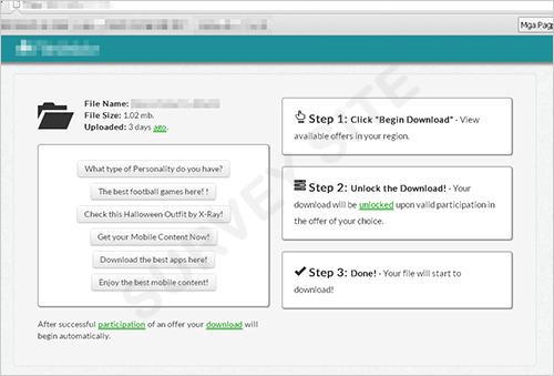 図7:アンケート詐欺サイトの例