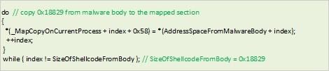 図4:コードの例