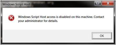 図5:VBScript がブロックされたことを表示するポップアップ画面