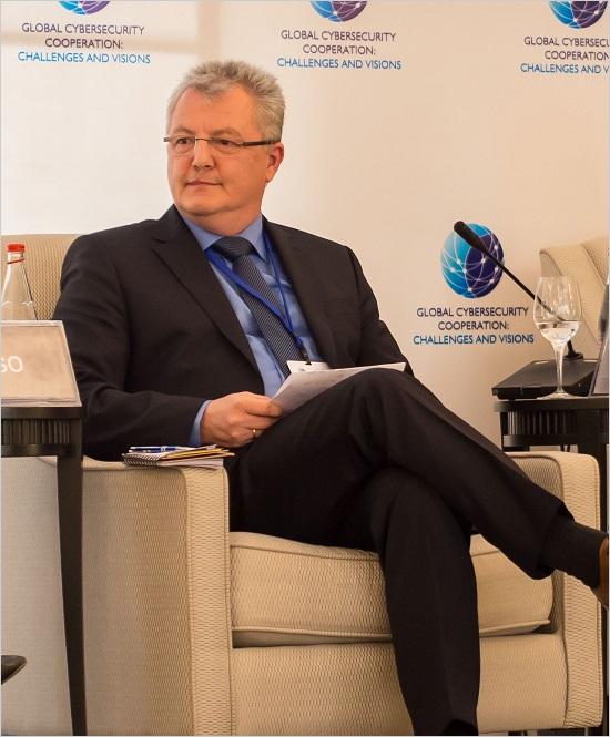 図1:ITUのサイバーセキュリティ会議で演説を行ったMartin Roesler