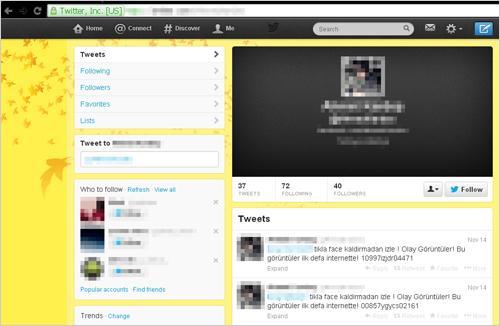 図2:不正な Webサイトに誘導するTwitterアカウント