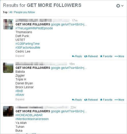 図1:詐欺サイトを広告するツイート