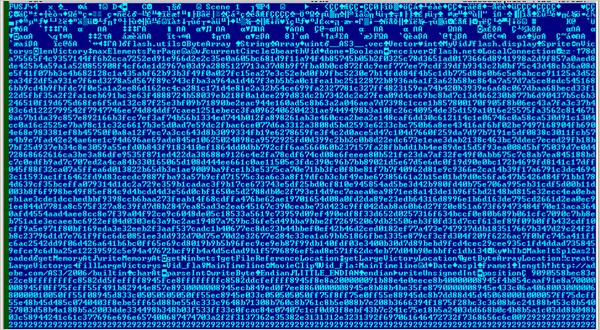 図2:シェルコードを ASCII形式で抽出