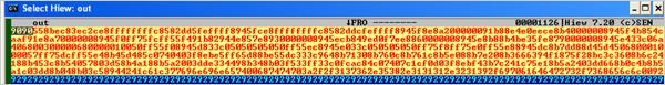 図3:ASCII形式で抽出したシェルコード