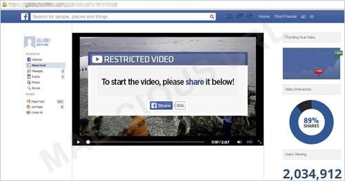 図1:動画を埋め込んだとする不正な Webサイトの例
