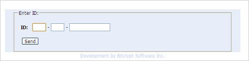 図3:BitCrypt IDのログイン画面